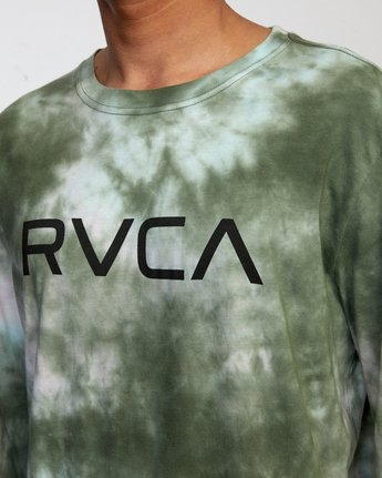 3 BIG RVCA TIE DYE LONG SLEEVE TEE Green AVYZT00223 RVCA