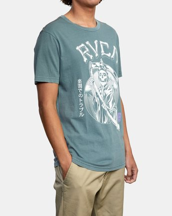 5 TROUBLE IN PARADISE SHORT SLEEVE TEE Purple AVYZT00253 RVCA