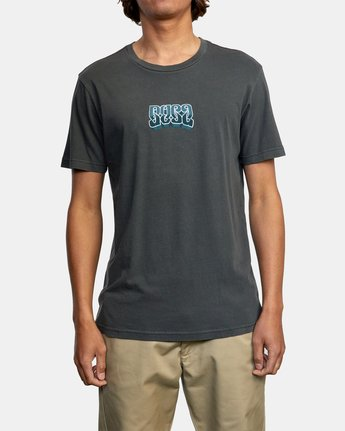 3 ADRESTIA SHORT SLEEVE TEE Black AVYZT00254 RVCA