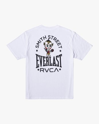 1 EVERLAST X SMITH STREET BIG ANGEL SHORT SLEEVE WORKOUT T-SHIRT White AVYZT00282 RVCA