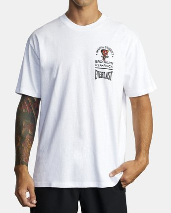 2 EVERLAST X SMITH STREET BIG ANGEL SHORT SLEEVE WORKOUT T-SHIRT White AVYZT00282 RVCA