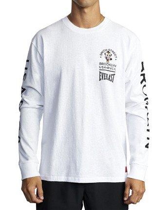 5 EVERLAST X SMITH STREET BIG DEVIL LONG SLEEVE WORKOUT T-SHIRT White AVYZT00284 RVCA
