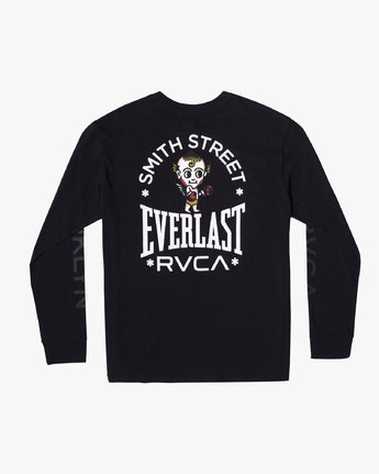 1 EVERLAST X SMITH STREET BIG ANGEL LONG SLEEVE WORKOUT T-SHIRT Black AVYZT00285 RVCA