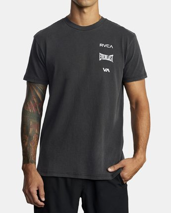 2 EVERLAST STACK SHORT SLEEVE WORKOUT T-SHIRT Black AVYZT00286 RVCA