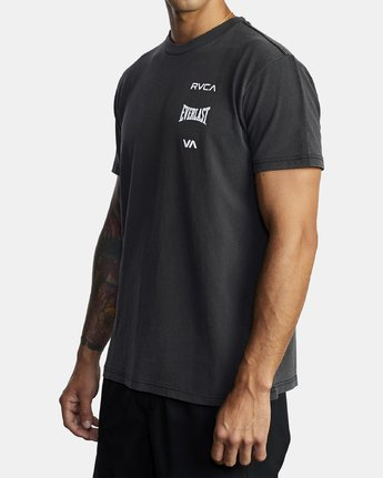 4 EVERLAST STACK SHORT SLEEVE WORKOUT T-SHIRT Black AVYZT00286 RVCA