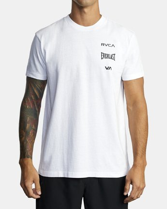 2 EVERLAST STACK SHORT SLEEVE WORKOUT T-SHIRT White AVYZT00286 RVCA
