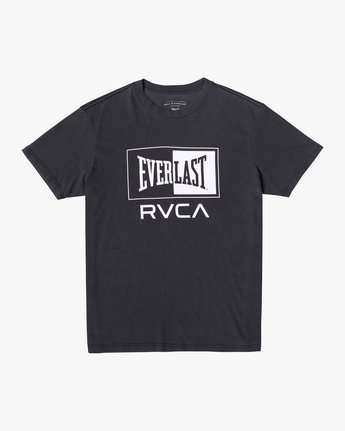 0 EVERLAST BOX SHORT SLEEVE WORKOUT T-SHIRT Black AVYZT00287 RVCA