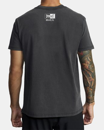 6 EVERLAST BOX SHORT SLEEVE WORKOUT T-SHIRT Black AVYZT00287 RVCA