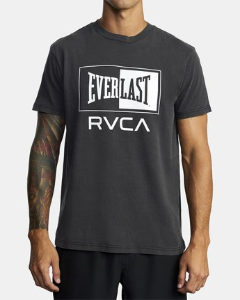 5 EVERLAST BOX SHORT SLEEVE WORKOUT T-SHIRT Black AVYZT00287 RVCA