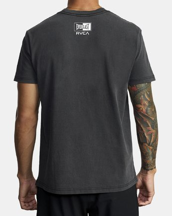 3 EVERLAST BOX SHORT SLEEVE WORKOUT T-SHIRT Black AVYZT00287 RVCA