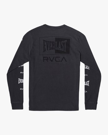1 EVERLAST BOX LONG SLEEVE WORKOUT T-SHIRT Black AVYZT00288 RVCA