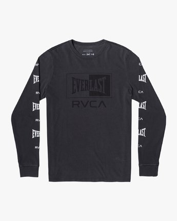 0 EVERLAST BOX LONG SLEEVE WORKOUT T-SHIRT Black AVYZT00288 RVCA