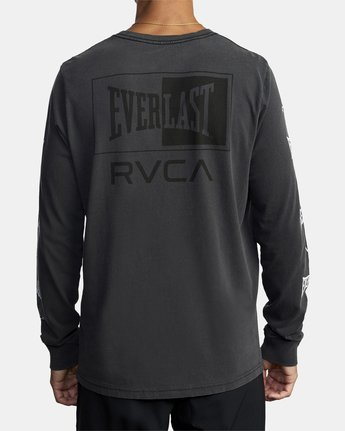 7 EVERLAST BOX LONG SLEEVE WORKOUT T-SHIRT Black AVYZT00288 RVCA