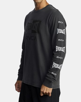 3 EVERLAST BOX LONG SLEEVE WORKOUT T-SHIRT Black AVYZT00288 RVCA