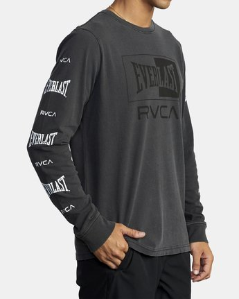4 EVERLAST BOX LONG SLEEVE WORKOUT T-SHIRT Black AVYZT00288 RVCA