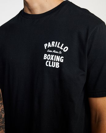 4 Parillo Boxing Club Short Sleeve T-Shirt Black AVYZT00298 RVCA