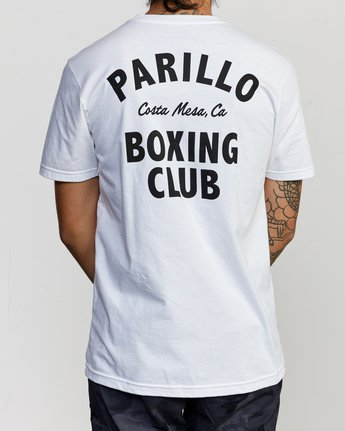 3 Parillo Boxing Club Short Sleeve T-Shirt White AVYZT00298 RVCA