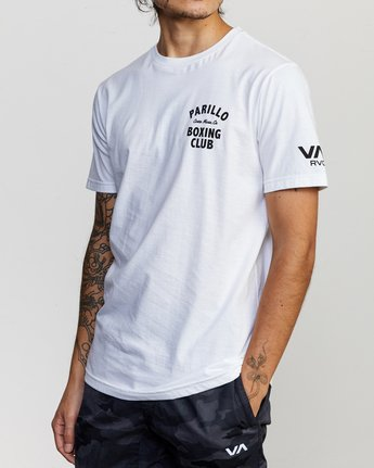 5 Parillo Boxing Club Short Sleeve T-Shirt White AVYZT00298 RVCA