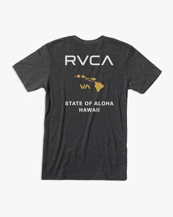 1 STATE OF ALOHA SHORT SLEEVE TEE Black AVYZT00323 RVCA
