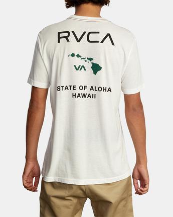 3 STATE OF ALOHA SHORT SLEEVE TEE White AVYZT00323 RVCA