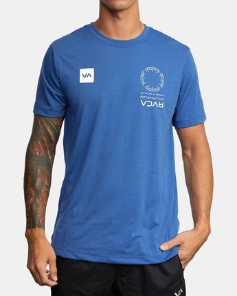 0 VA MARK TEE Blue AVYZT00355 RVCA