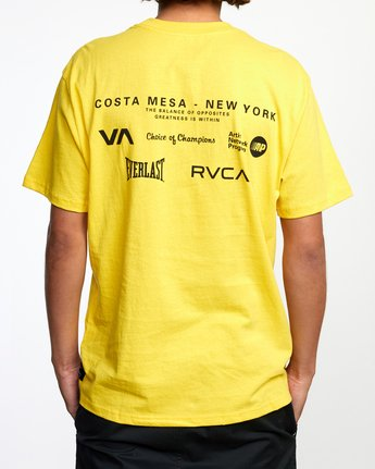 3 RVCA EVERLAST CM NY SHORT SLEEVE TEE Multicolor AVYZT00397 RVCA