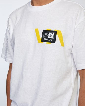 4 RVCA EVERLAST STACK PATCH SHORT SLEEVE TEE White AVYZT00398 RVCA