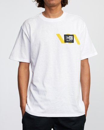 2 RVCA EVERLAST STACK PATCH SHORT SLEEVE TEE White AVYZT00398 RVCA