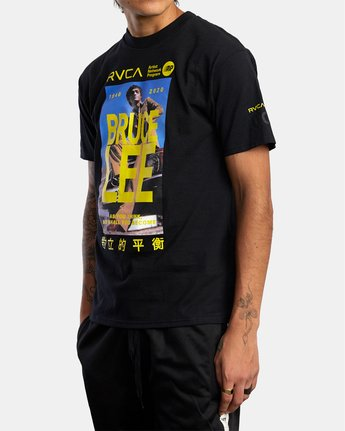 4 BRUCE LEE AS YOU THINK SHORT SLEEVE TEE Black AVYZT00401 RVCA