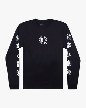 0 BRUCE LEE EIGHTY YEARS LONG SLEEVE TEE Black AVYZT00440 RVCA