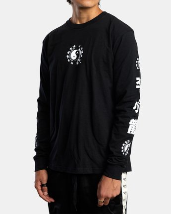 3 BRUCE LEE EIGHTY YEARS LONG SLEEVE TEE Black AVYZT00440 RVCA