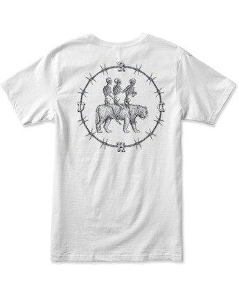 1 Tres Hombres Short Sleeve Tee White AVYZT00475 RVCA