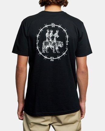 4 Tres Hombres Short Sleeve Tee Black AVYZT00475 RVCA