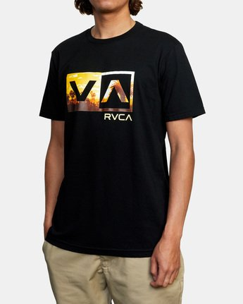 4 Balance Box Short Sleeve Tee Black AVYZT00479 RVCA