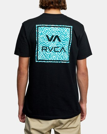 3 VA All The Way Short Sleeve Tee Black AVYZT00480 RVCA