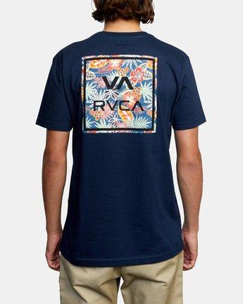 3 VA All The Way Short Sleeve Tee Blue AVYZT00480 RVCA