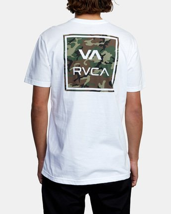 3 VA All The Way Short Sleeve Tee White AVYZT00480 RVCA