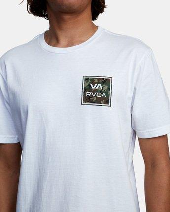 6 VA All The Way Short Sleeve Tee White AVYZT00480 RVCA