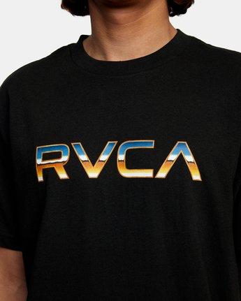 4 Krome Short Sleeve Tee Black AVYZT00486 RVCA