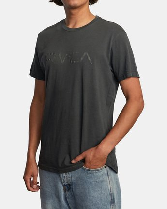 3 Bleecher Short Sleeve Tee Black AVYZT00491 RVCA