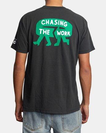 3 Espo Chase Short Sleeve Tee Black AVYZT00494 RVCA