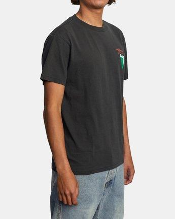 5 Espo Chase Short Sleeve Tee Black AVYZT00494 RVCA