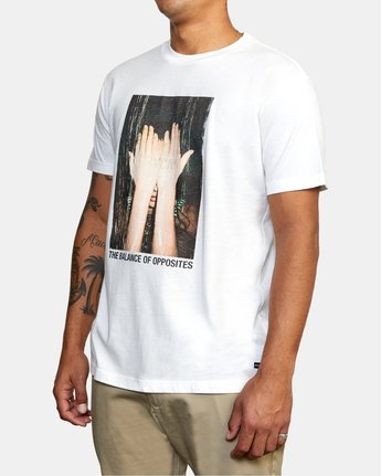 4 EVAN MOCK PHOTO SHORT SLEEVE TEE White AVYZT00511 RVCA