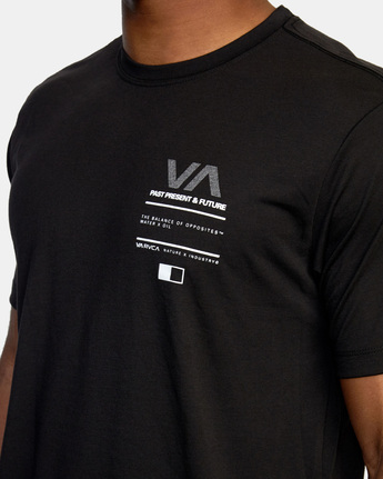 6 Reflective RVCA Balance Box Short Sleeve Tee Black AVYZT00517 RVCA