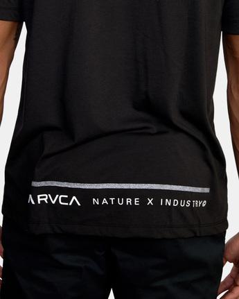 7 Reflective RVCA Balance Box Short Sleeve Tee Black AVYZT00517 RVCA