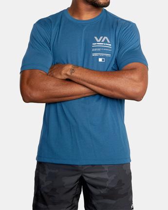 2 Reflective RVCA Balance Box Short Sleeve Tee Blue AVYZT00517 RVCA
