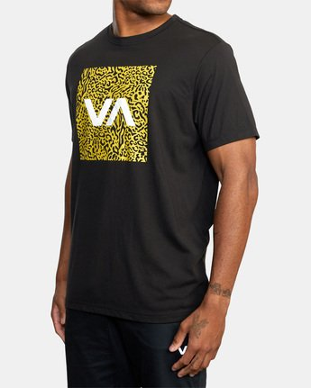 4 VA Box Fill Short Sleeve Tee Black AVYZT00518 RVCA