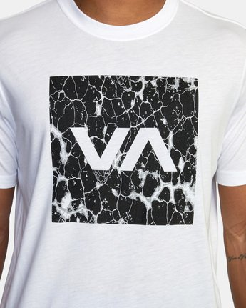 5 VA Box Fill Short Sleeve Tee White AVYZT00518 RVCA