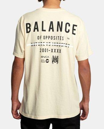 3 Balance Highlight Short Sleeve Tee Beige AVYZT00519 RVCA