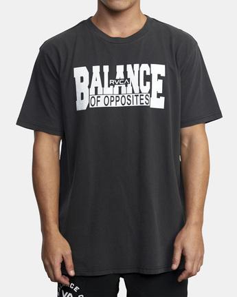 1 RVCA Balance Block Short Sleeve Tee Black AVYZT00521 RVCA